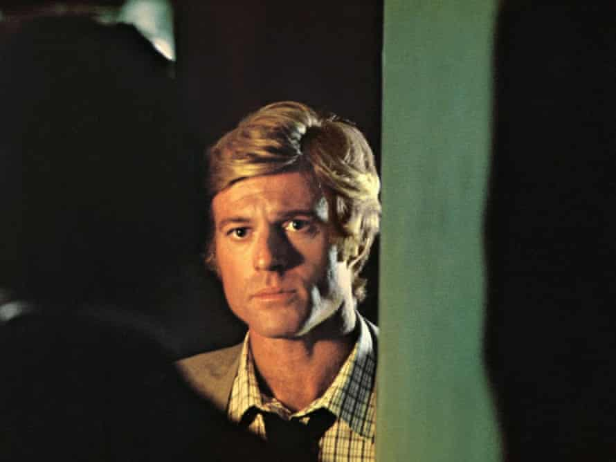 All the President's Men - Woodward (Redford) and Deep Throat (Mark Felt)