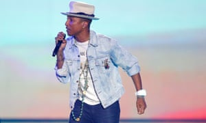 Pharrell Williams wearing double denim