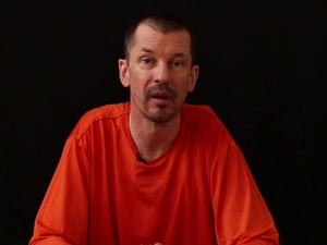 An image taken from an Islamic State video showing British captive John Cantlie.