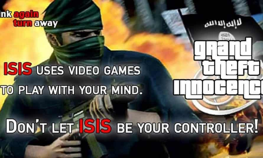 A US parody of Isis's Grand Theft  Auto video.