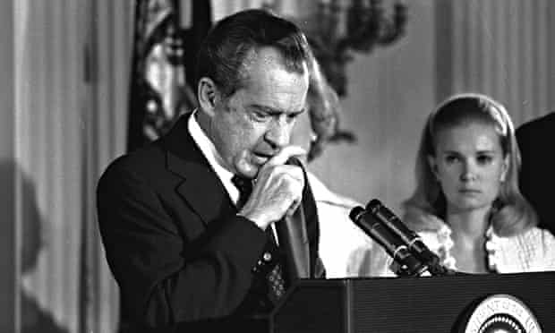 Richard Nixon resignation farewell White House Tricia