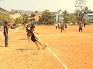 'Making strides against the odds: Women playing football,in India, is scintillating to watch.'