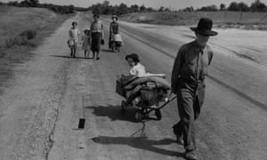 A family in Pittsburg County, Oklahoma, is forced to leave their home during the great depression.