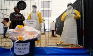MSF volunteers train at a replica Ebola treatment centre in Brussels before flying out to Africa