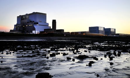 Hinkley Point A, right, and Hinkley Point B in Somerset