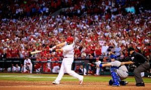 The St Louis Cardinals take a 3-2 lead on the Los Angeles Dodgers in Game 4 of the National League Division Series on Matt Adams's 7th inning home run.