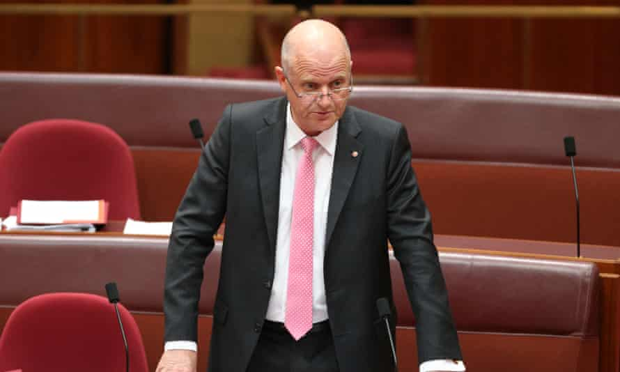 Senator David Leyonhjelm during debate in the senate chamber this morning in Parliament House in Canberra, Wednesday 24th September 2014 #politicslive Photograph  by Mike Bowers for The Guardian Australia