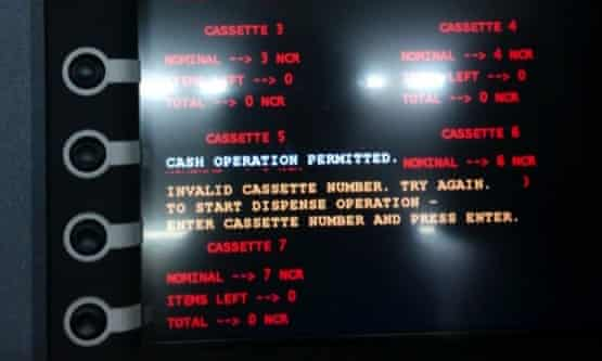 The Tyupkin malware is known to have infected at least 50 cash machines so far.