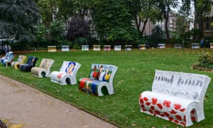 Book benches in London
