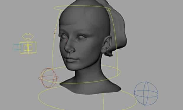 Computer-generated Audrey Hepburn