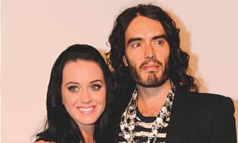 Russell Brand wth his ex-wife Katy Perry