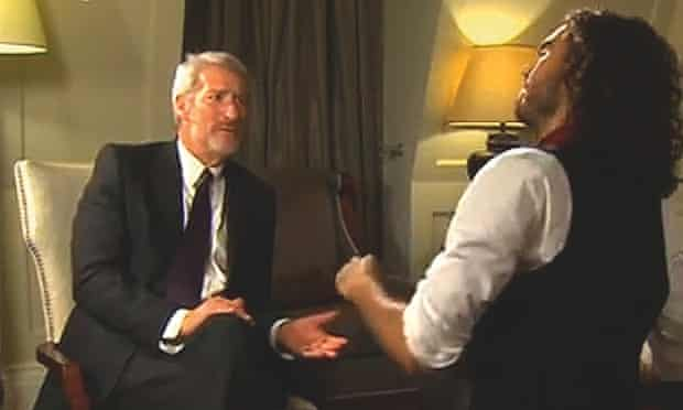 Jeremy Paxman interviewing Russell Brand on Newsnight