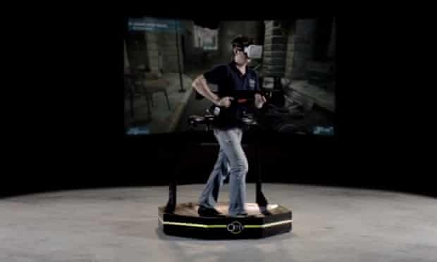 The treadmill approach to gaming with the Virtuix Omni.