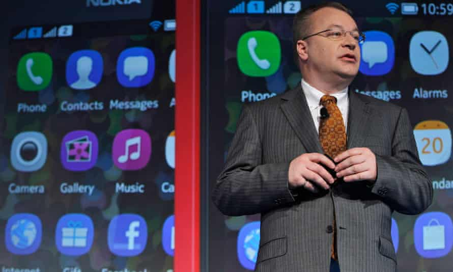 Stephen Elop in May 2013, when he was chief executive of Nokia.