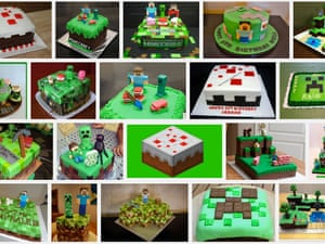 You can't buy official Minecraft cakes, but you can bake your own, as this Google search shows.