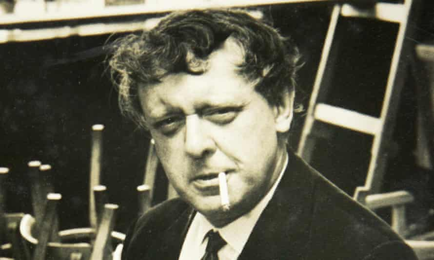 Photograph of Anthony Burgess on display at the Anthony Burgess Foundation in Manchester.