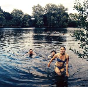 Climb ashore on their Essex island lake.