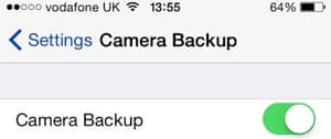 iCloud Camera Backup