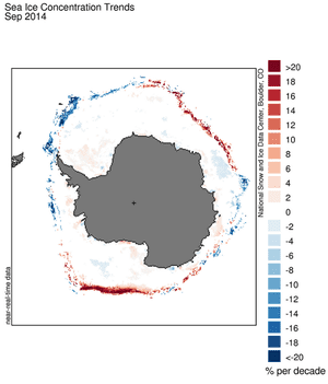 This map shows Antarctic sea ice growth is not uniform.