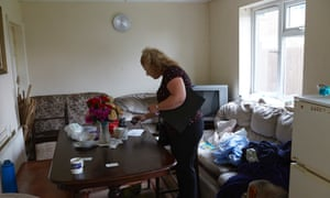 A Fenland district council officer on a house inspection ... poor housing and exploitation are usually linked. Photograph: Andy Hall for the Guardian