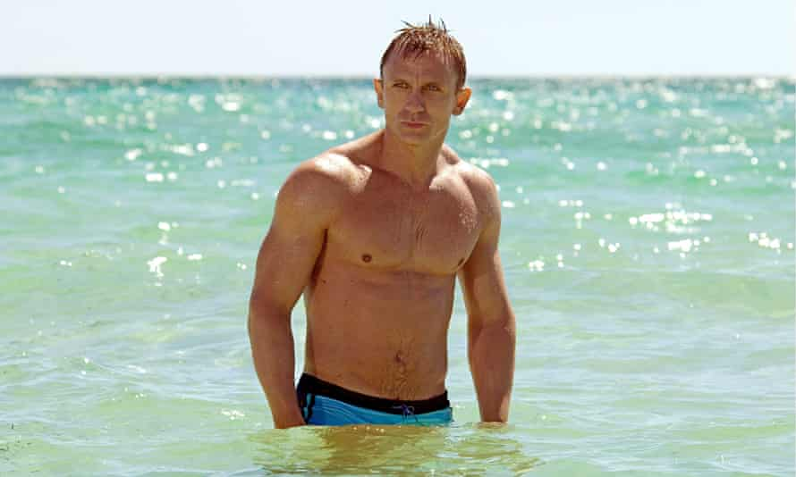 Daniel Craig emerges hairless from the sea in Casino Royale.