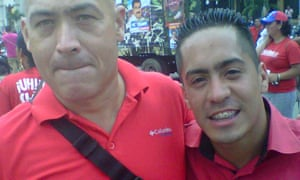 Jose Odreman with Robert Serra, in an image the Shield of the Revolution leader posted on Twitter.
