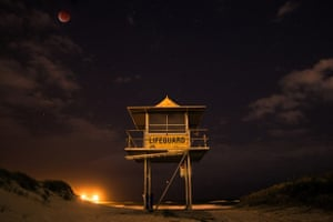 Lunar eclipse on Gold Coast by Sam Ryan