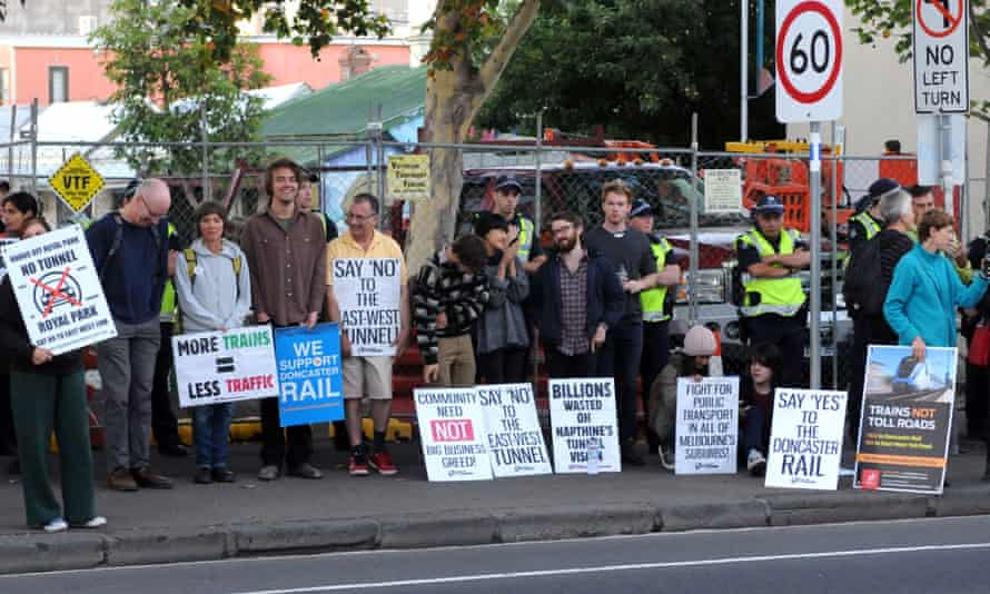 East West Link protesters