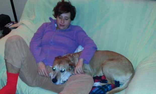 Teresa Romero Ramos, the Spanish nurse who contracted Ebola, is pictured with her dog Excalibur in this undated handout photo.