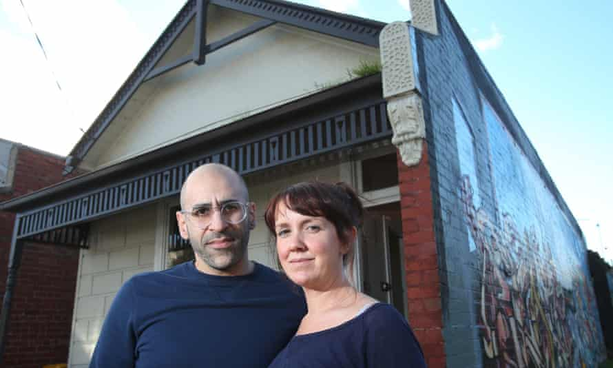 Collingwood residents Elyssa and John Mansour, whose home is one of hundreds that will have to be compulsorily acquired  to build the first stage of East West Link.