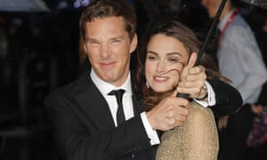 Benedict Cumberbatch and Keira Knightley on the Imitation Game red carpet.