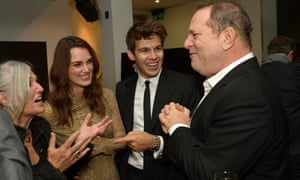 Keira Knightley, her mother and husband, and Harvey Weinstein.