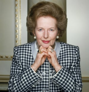 Margaret Thatcher, British Conservative Prime Minister from 1979 to 1990