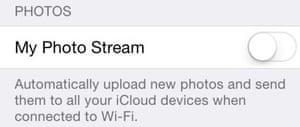 iCloud photo privacy screengrab