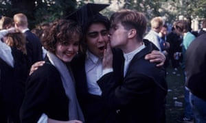 Goodbye to all that: Oxford students celebrate graduating in 1987.