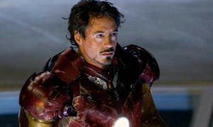 Robert Downey Jr in the first Iron Man movie (2008).