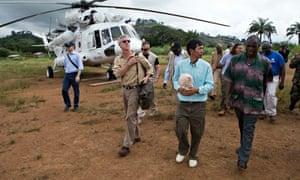 Anthony Banbury arrives in Liberia