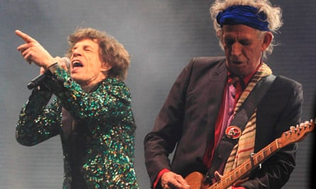 The Rolling Stones at the Glastonbury festival in 2013