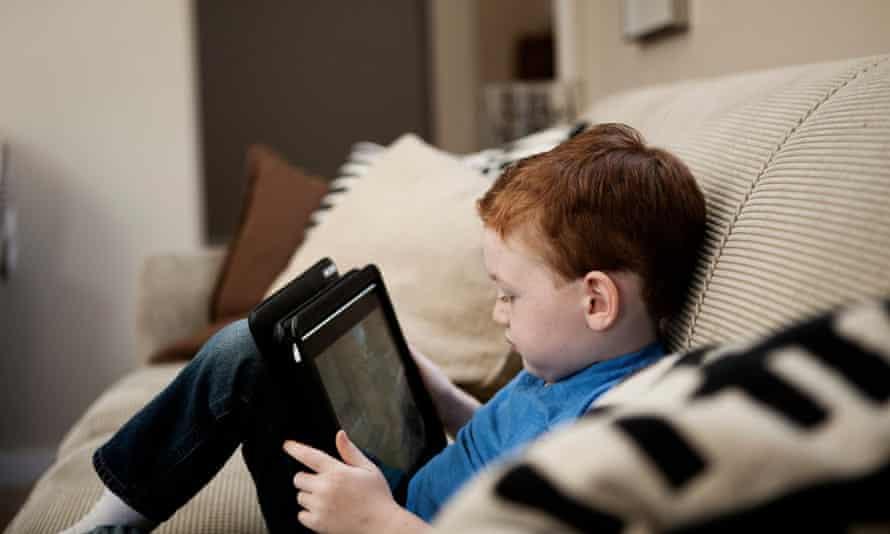child using tablet ipad