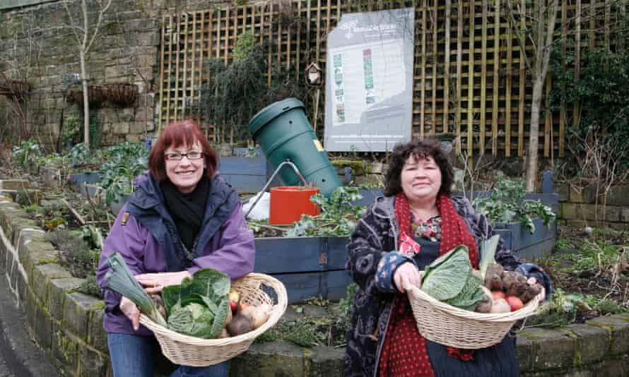 Mary Clear (right) and Pam Warhurst of Incredible Edible Todmorden