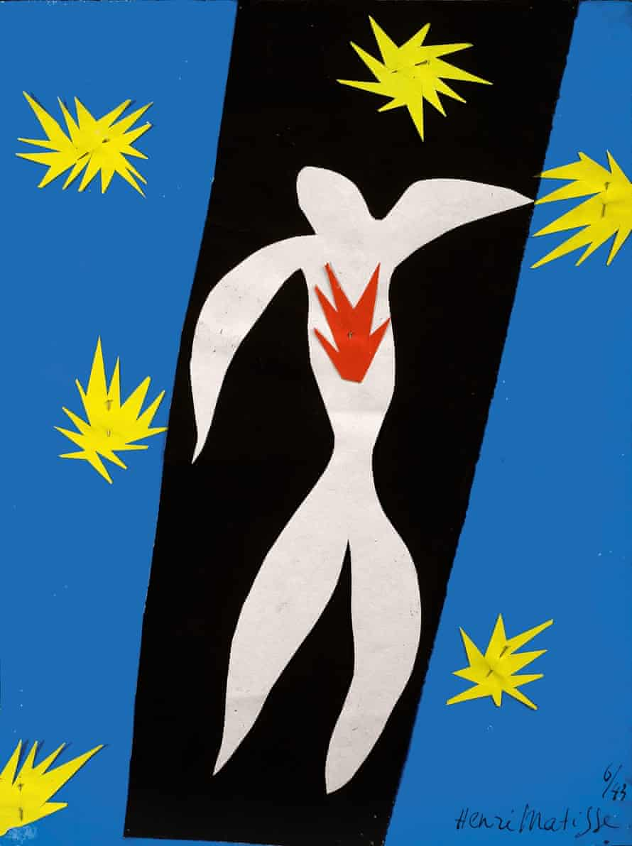 Matisse cut-outs Fall of Icarus
