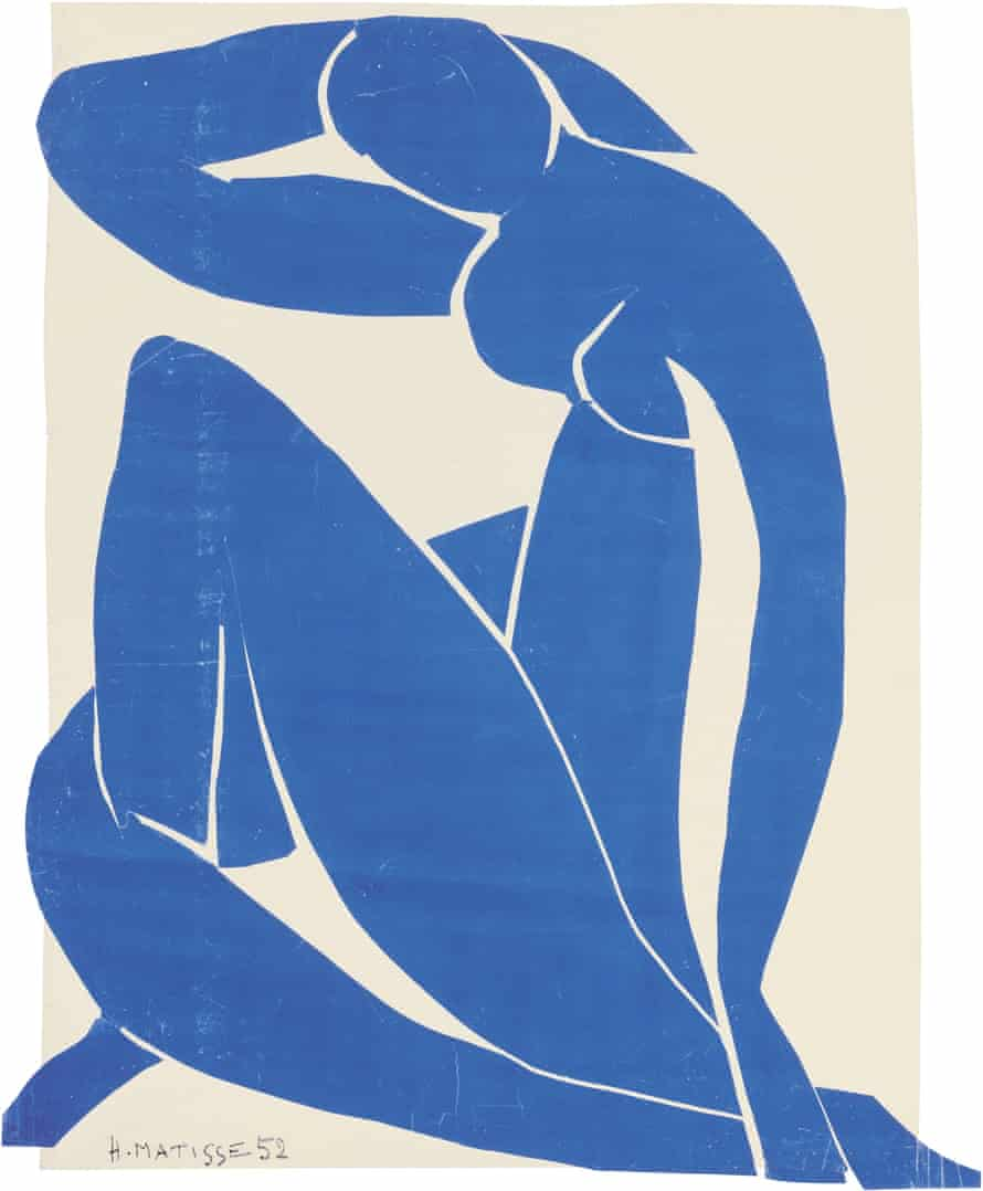 Matisse cut-outs Blue Nude II