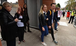 Young people voting in Glasgow in the Scottish independence referendum