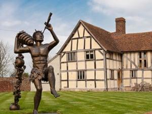 Pan greets visitors to Eckington Manor