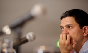 Labour MP David Miliband at a youth unemployment summit in his South Shields constituency