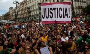 Indignados protesting in Madrid in 2012