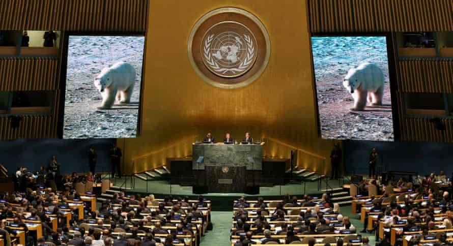 World leaders attend the Climate Summit 2014 at the UN headquarters in New York last month.