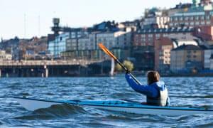 Kayaking Stockholm.