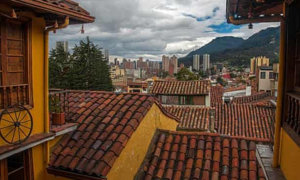 Downtown Bogotá, seen from the Candelaria district.