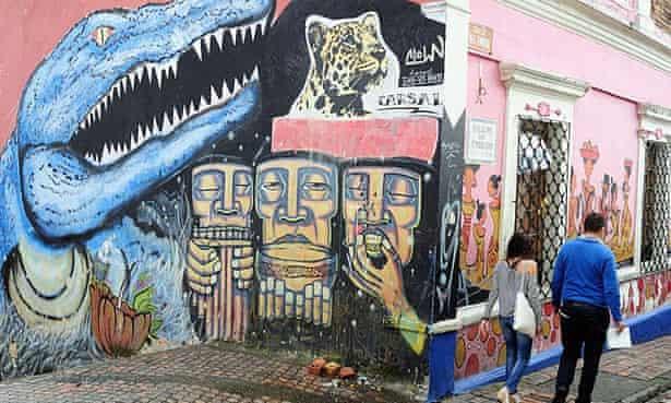 Bogotá's historic La Candelaria neighbourhood.